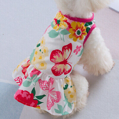 Cute Dog Dresses For Small Dogs Chihuahua Dress Skirt Puppy Cat Clothes Apparel • 2.84£