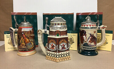 $ CDN123.73 • Buy Vintage Anheuser Busch Budweiser Collectors Stein Lot Greatness Clydesdale Age