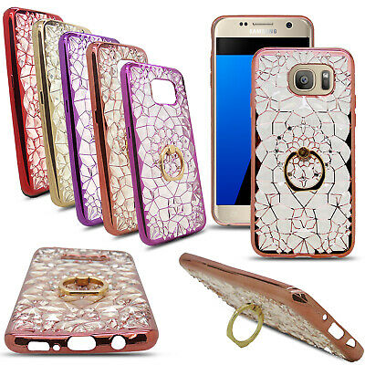 $ CDN3.44 • Buy For Samsung S8 S6 J3 J5 Glitter Silicone Ring Phone Holder TPU Stand Case Cover
