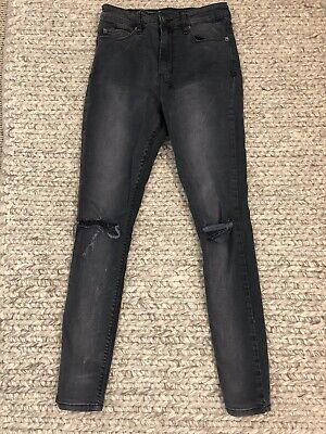 AU20 • Buy Ksubi Black High Waisted Distressed Jeans Size 26 (8)
