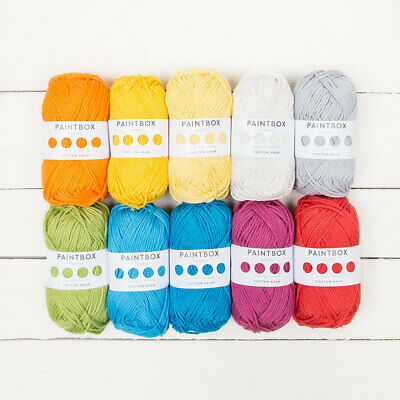 £4.38 • Buy Paintbox Cotton Aran Yarn 50g Ball **BRAND NEW**ALMOST GONE**GREAT PRICE!!**
