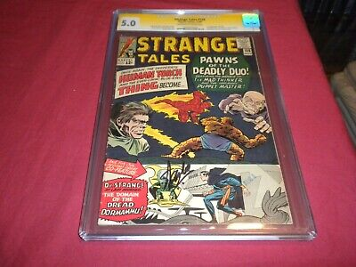 £1015.08 • Buy Strange Tales #126 Marvel 1964 Silver Age 5.0/vg/fn SS CGC Comic SIGNED STAN LEE