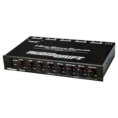 $ CDN52.60 • Buy Nippon - Audiodrift 4 Band Graphic Equalizer With Subwoofer Output Dual Color Il