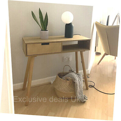 £69.80 • Buy Scandinavian Console Table Desk With Drawer Hallway Living Room Furniture Brown