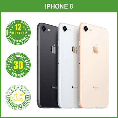 AU275 • Buy Refurbished Unlocked Apple IPhone 8 64GB/256GB Colours LOCAL DELIVERY