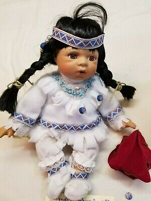 $ CDN86.47 • Buy 10  Elizabeth Collection Porcelain Doll Little Deer Native American CUTE