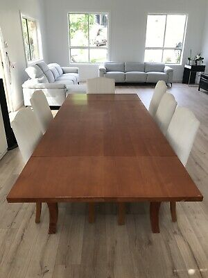 AU390 • Buy 10 Seater Oregon Extender Dining Table And 6 Comfy Chairs