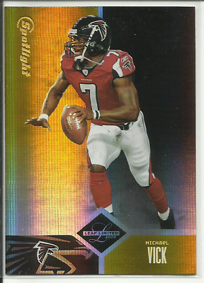 $9.99 • Buy 2004 Leaf Limited #70 SPOTLIGHT GOLD Michael Vick #'d /25 $RARE$ FALCONS