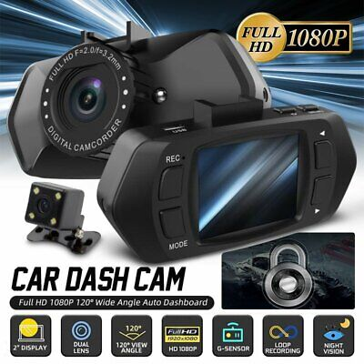 AU43.01 • Buy Car Dash Camera 2in Touch Video DVR Recorder Front And Rear Dual Camera Dash Cam
