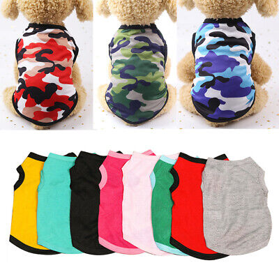 £2.75 • Buy Cute Pet Clothes Summer T-shirts Puppy Chihuahua Cat Vest Cotton Soft Costumes