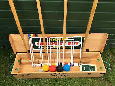 Jaques London Croquet Set Excellent Condition Country House Games Summer • 299£