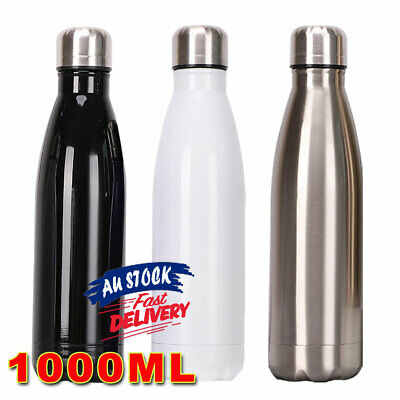 AU19.75 • Buy 1L Stainless Steel Flask Water Bottle Vacuum Insulated Thermos Drink Cup ACB#