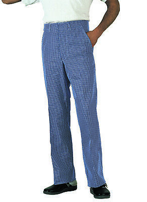 SALE! Dennys Jean Style Chef Trousers DC02 - Blue White Check Size Medium - NEW! • 16£