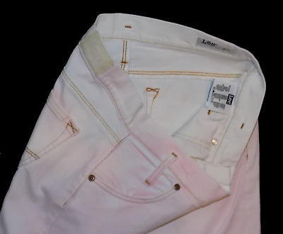 £6.99 • Buy Lee Lynn New Condition White With Factory Pink Wash Slim Stretch Jeans 10 28X31