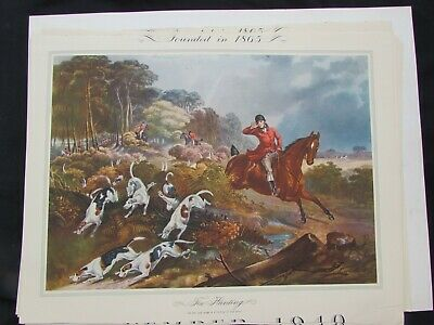 £7.04 • Buy A History Of The Prints And Paintings - Charles Hunt  Fox Hunting  -  Calendar