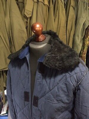 £8.10 • Buy Hungarian Army Navy Blue Faux Fur Collar Quilted Parka Liner