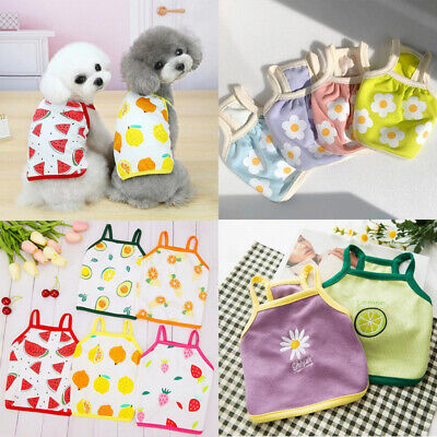 £2.99 • Buy Small Dog Clothes Tshirt Puppy Dog Summer Vest Pets Clothing For Chihuahua Cat