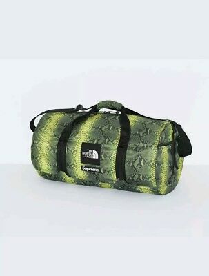 $ CDN380.28 • Buy Supreme The North Face Snake Skin Duffle Bag Green Packable *IN-HAND*