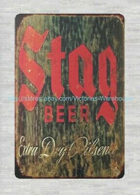 £11.29 • Buy Old Reproductions Stag BEERkitchen Store Bar Metal Tin Sign