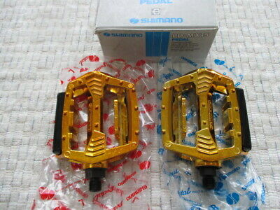AU311.26 • Buy Shimano SX Pedals 1/2 Gold NOS For Old School BMX Victor Shimano KKT MKS SR DX