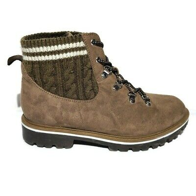 $ CDN73.74 • Buy Torrid Taupe Knit Hiker Boot Women's Size 9 Wide Lace Up