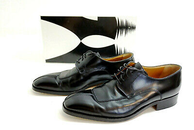 £40.33 • Buy MORESCHI Men's Size 9 M Dress Shoes Mirano Black Derby W/ Box ~ Made In Italy