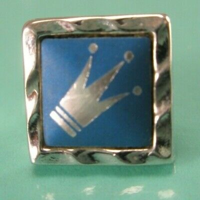 $ CDN19.98 • Buy -Royal Crown Blue & Silver Tone Vintage TINY SMALL Tie Tack Lapel Pin Imperial