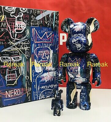 $185.99 • Buy Medicom Bearbrick 2021 Jean-Michel Basquiat #7 400% + 100% Be@rbrick 2pcs