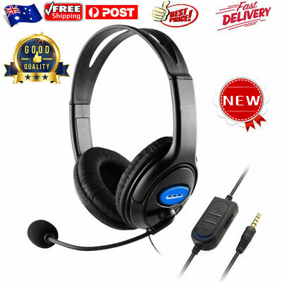 AU16.99 • Buy Gaming Headset Earphones Wired 3.5mm Headphones W/Mic Switch For PS4 Xbox One AU