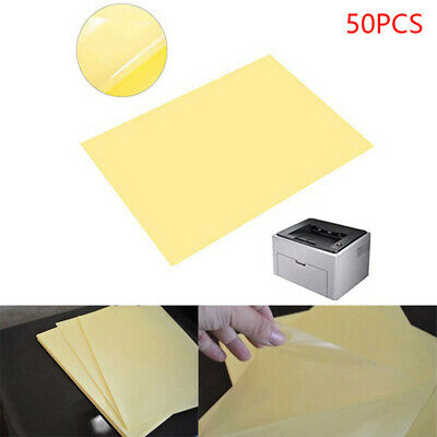 AU16.89 • Buy 50 X A4 Clear Transparent Glossy Self Adhesive Sticker Paper Label Laser Print