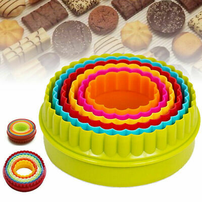 £3.21 • Buy 6Pack Cookie Scone Cutters Edge Crinkle Round Cake Sugarcraft Pastry Bake