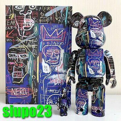 $199.99 • Buy Medicom 400% + 100% Bearbrick ~ Jean-Michel Basquiat 07 Be@rbrick