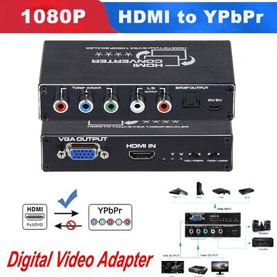 £28.29 • Buy High Quality Portable 1080P HDMI To Component HDMI To YPbPr/VGA Scaler Converter
