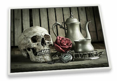 £28.99 • Buy Skull Kitchen Still Life CANVAS FLOATER FRAME Wall Art Print Picture