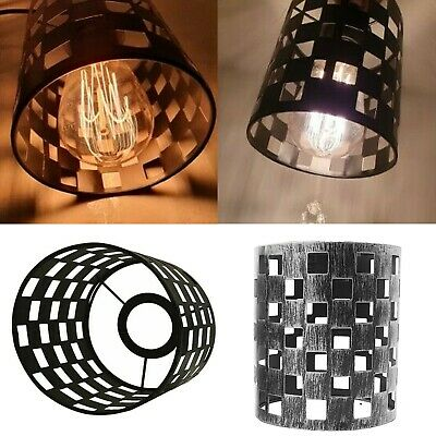 £9.49 • Buy Metal Pendant Light Shade Ceiling Industrial Pattern Wire Cage Lampshade Lamp