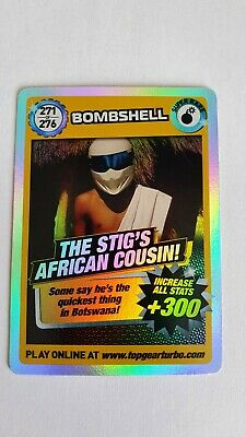 £7.50 • Buy Top Gear Turbo Challenge THE STIG'S AFRICAN COUSIN SUPER RARE TRADING CARDS 271
