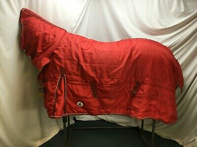 £34.99 • Buy Used 6'3 Derby House  Mediumweight Stable Horse Rug W/ Fixed Hood #B07905