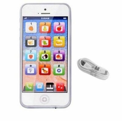 £6.99 • Buy Toy Phone Smart Baby Children Kids Educational Learn Iphone USB Mobile White