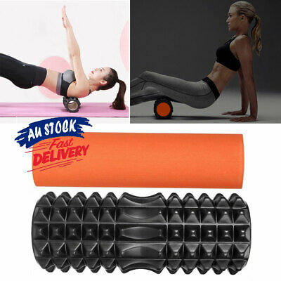 AU19.95 • Buy 2 IN 1 Exercise Back Foam Roller Massage Yoga Training Physio PVC EVA Gym ACB#