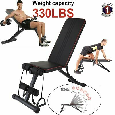 £50 • Buy Weight Bench Multi Adjustable Gym Workout Exercise Flat Incline Decline Sit Up