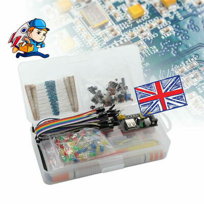 Electronic Component Kit Starter Wire Breadboard LED Buzzer Resistor Transistor • 13.75£