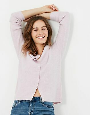 £30.95 • Buy Joules Womens Rosie Knitted Reversible Button Up Cardigan - Light Pink