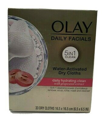 AU7.72 • Buy Olay Daily Facials Cleansing Cloths 5 IN 1 Clean Hydrating 33 Count