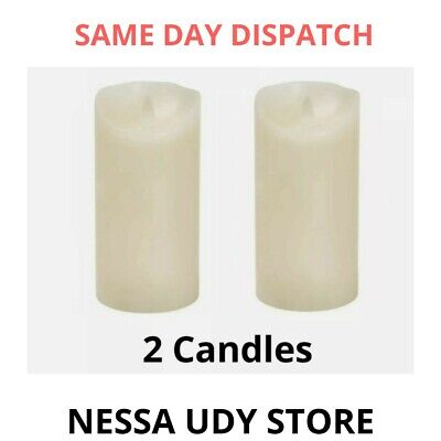 £8.99 • Buy LED FLAMELESS CANDLES PILLAR FLICKERING CANDLE VALENTINE'S GIFT X 2 (12.5x7.5CM)