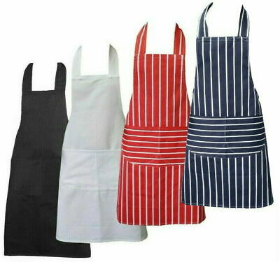 £3.99 • Buy Chefs Apron With Pockets, BBQ, Baking & Catering Apron For Men Women Ladies