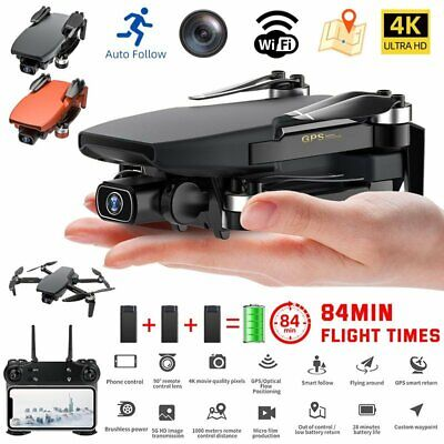 AU184.99 • Buy 5G 4K GPS Drone X Pro With HD Dual Camera Drones WiFi FPV Foldable RC Quadcopter