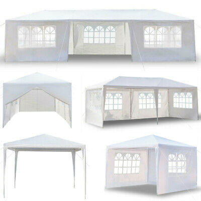 3x9m Canopy Party Wedding Camping Tent Garden Shed BBQ Gazebo Pavilion Outdoor • 46.98£