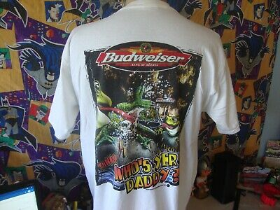 $ CDN46.14 • Buy Vintage 90's Budweiser Who's Yer, Daddy Frogs Lizard Beer T Shirt XL