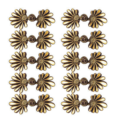 £3.99 • Buy 5 Pairs Flower Frog Knot Closure Button Fastener Crafts For Clothes Bag Decor