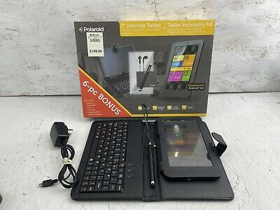 £14.19 • Buy Polaroid Tablet Android 7  Black Model 704 512MB Kit W/ Stylus, Charger Bundle
